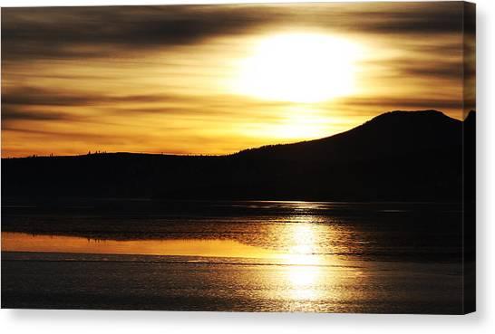 Reflection On Lake Klamath Canvas Print