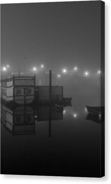 Reflection On Misty Thames  Canvas Print