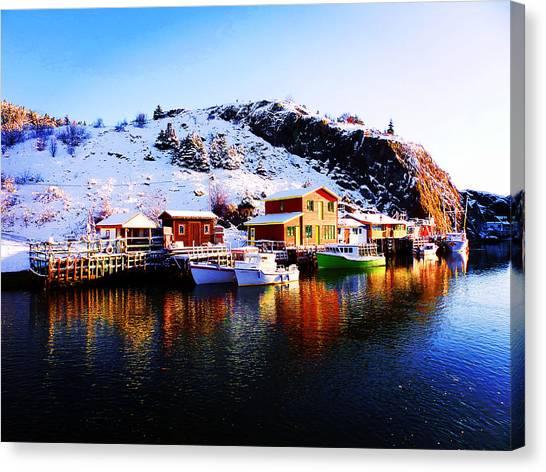 Reflection On Quidi Vidi Lake Canvas Print
