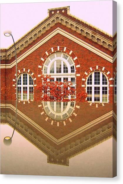 Ohio University Canvas Print - Reflection by Suzy Majewski