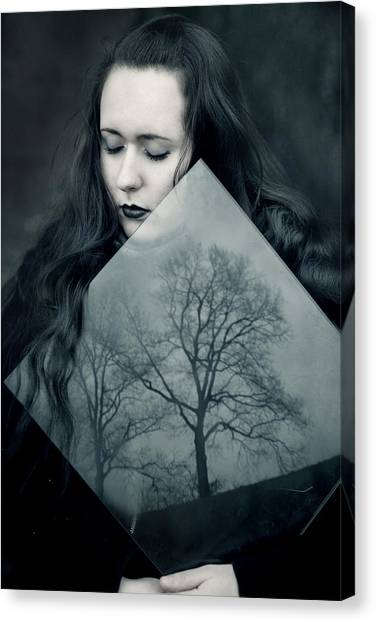 Gothic Art Canvas Print - Reflection by Cambion Art
