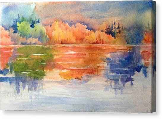 Reflections 1 Near Boulder Canvas Print