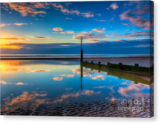 Sea Canvas Print - Reflections by Adrian Evans