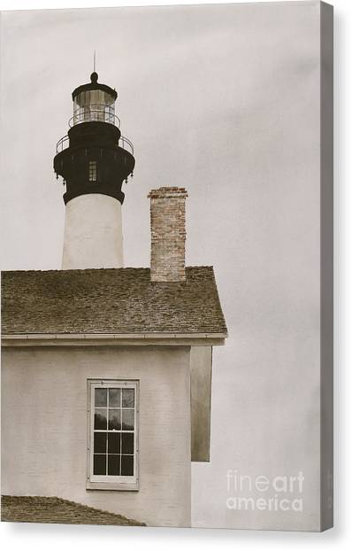 Reflections At Bodie Light Canvas Print
