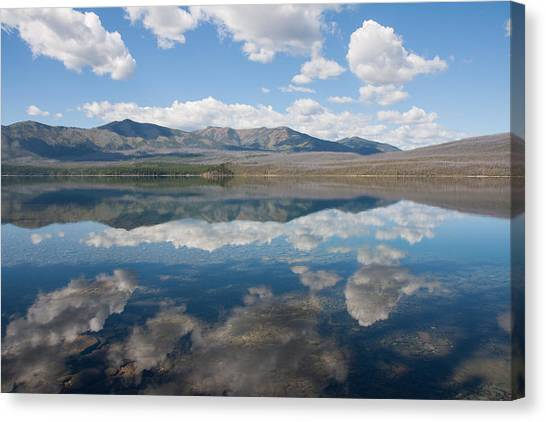 Reflections At Glacier National Park Canvas Print