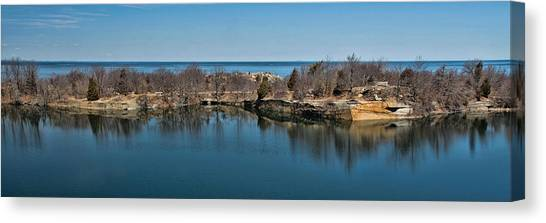 Reflections At The Quarry Canvas Print