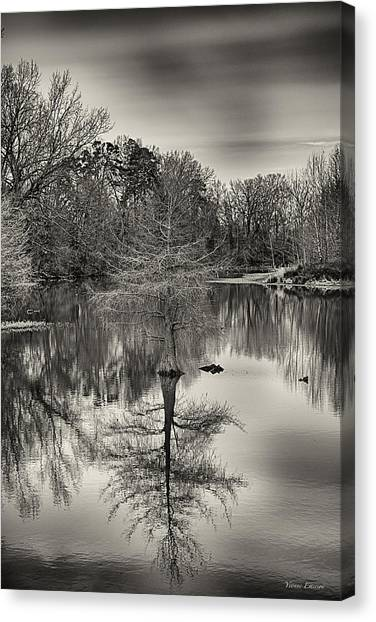 Reflections In Black And White Canvas Print