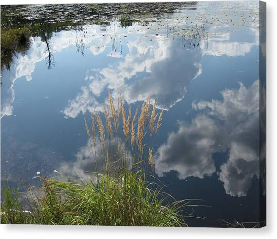 Reflections In The Water Canvas Print by Carolyn Reinhart