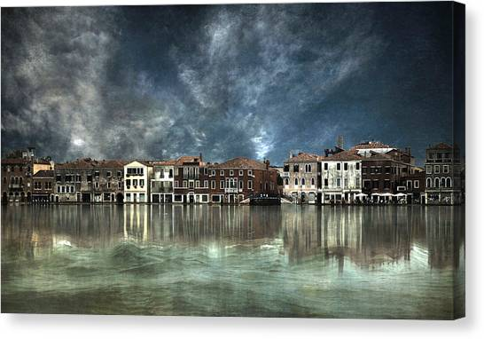 Reflections In Venice Canvas Print by Nieves. Bautista