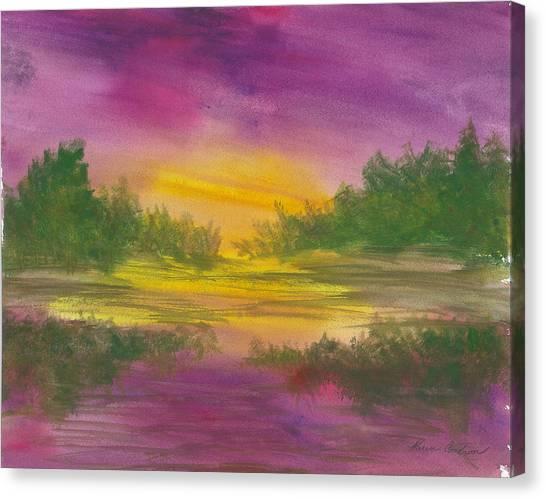 Reflections Canvas Print by Karen  Condron