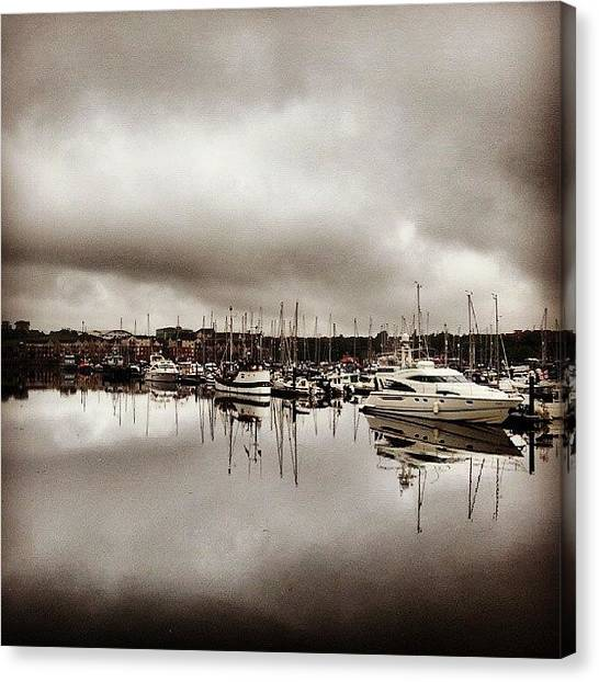 Fishing Boats Canvas Print - Reflections #nature #natural #beauty by Michael Henderson