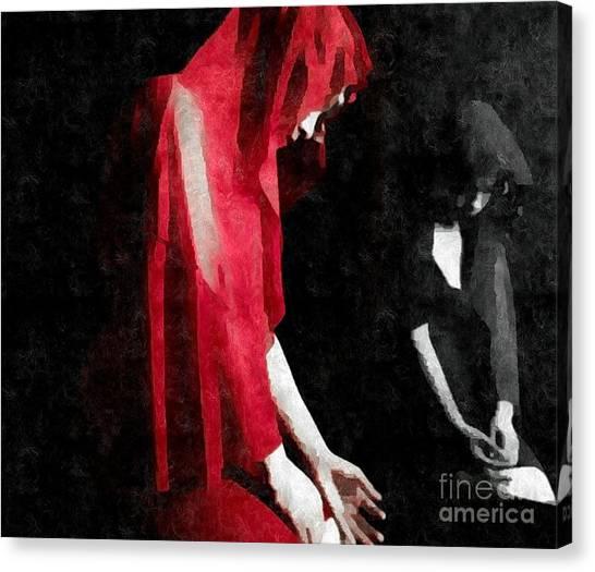 Reflections Of A Broken Heart Canvas Print
