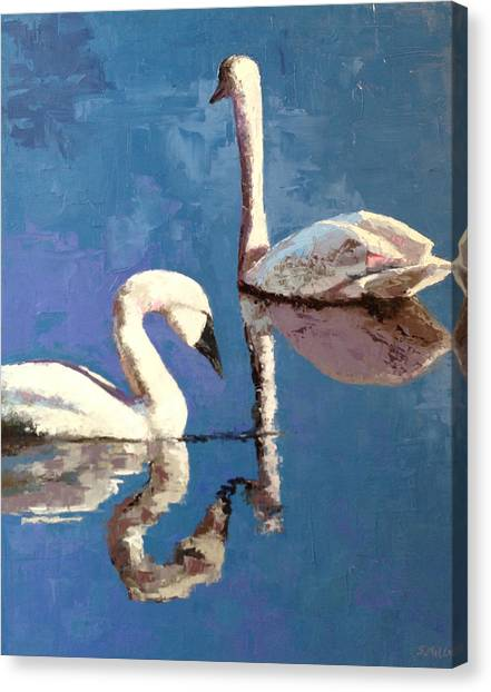 Reflections Of A Kiss Canvas Print
