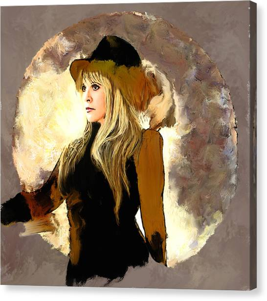 Stevie Nicks Canvas Print - Reflections Of Dreams by Brian Tones