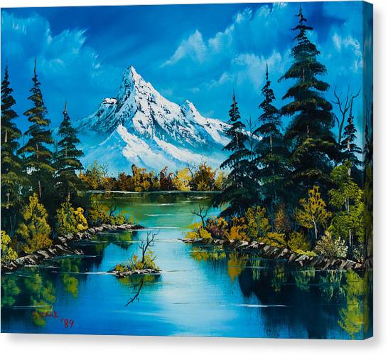 Bob Ross Canvas Print - Reflections Of Fall by Chris Steele