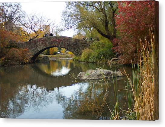 Reflections Of Gapstow Bridge Canvas Print