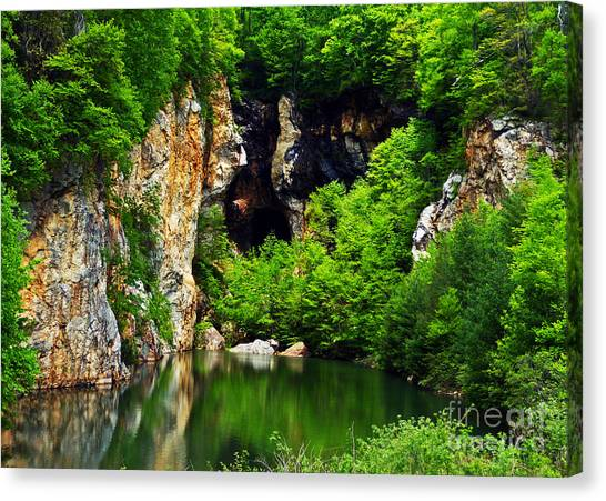 Mountain Caves Canvas Print - Reflections Of Mine by Lydia Holly