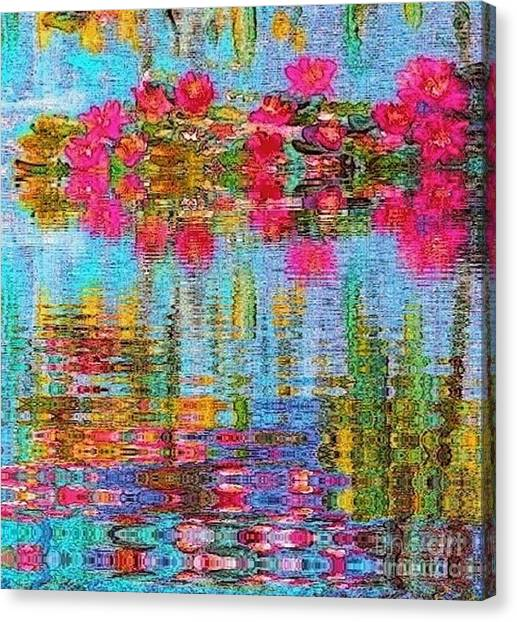 Reflections Of Monet Canvas Print