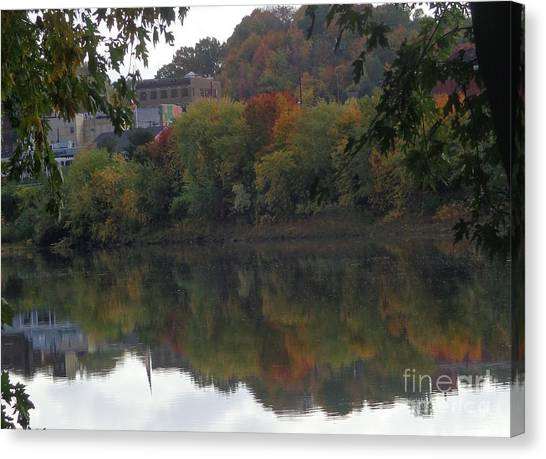 Reflections Of Pittston Canvas Print