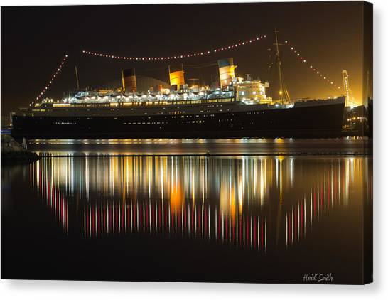 Long Wharf Canvas Print - Reflections Of Queen Mary by Heidi Smith