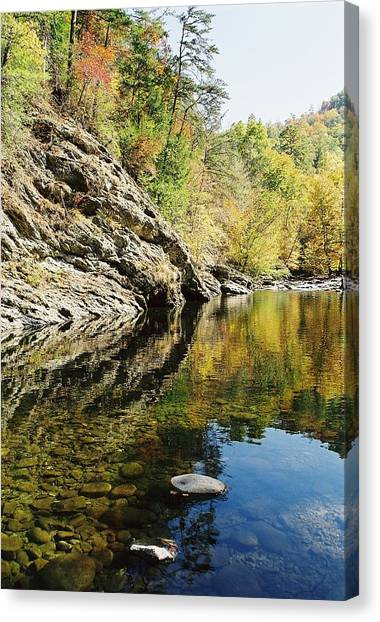 Reflections Of The  Canvas Print by John Saunders