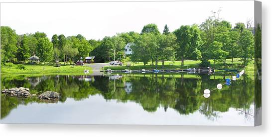 Reflections Of The Landing Canvas Print
