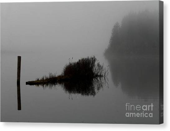 Reflections On A Lake Canvas Print