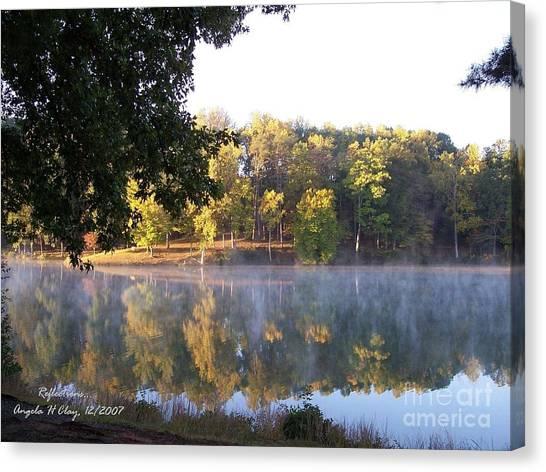 Reflections On Lake Lanier Canvas Print