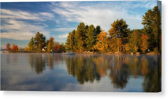 Reflections On Long Lake Canvas Print