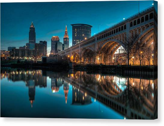 Reflections On The Cuyahoga Canvas Print