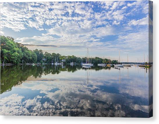 Reflections On The Magothy River Canvas Print