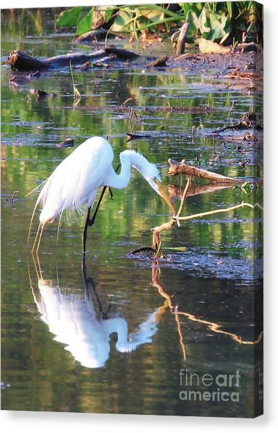 Reflections On Wildwood Lake Canvas Print