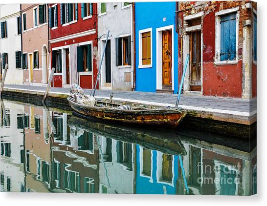 Canal Canvas Print - Reflections by Yuri Santin