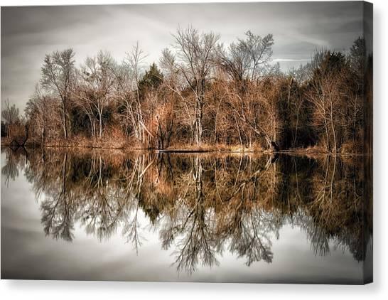 Reflective Morning Canvas Print