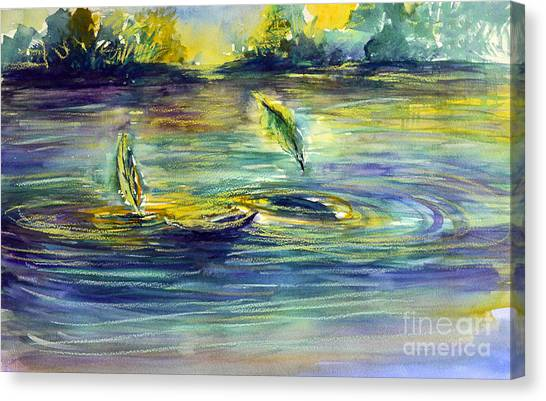 Reflective Ripples Canvas Print