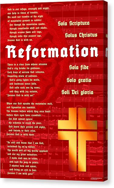 Reformation Canvas Print