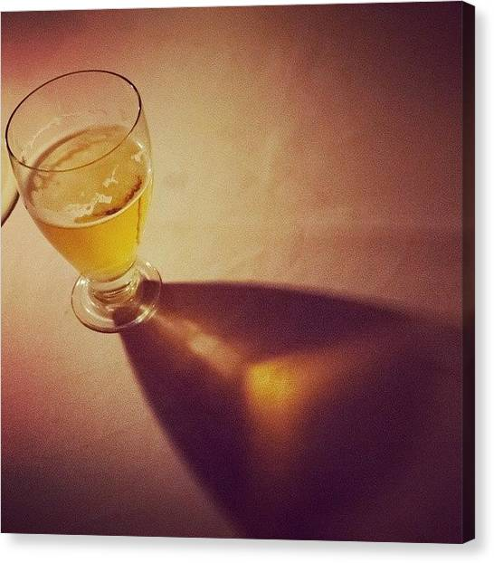 Beer Canvas Print - Refraction by Hitendra SINKAR