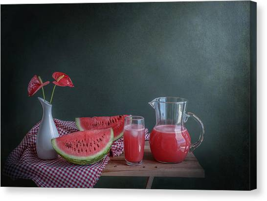 Melons Canvas Print - Refreshing by Margareth Perfoncio