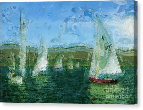 Jibbing Canvas Print - Regatta Day by Julie Lueders