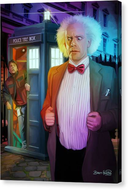 Back To The Future Canvas Print - Regeneration by Brett Hardin
