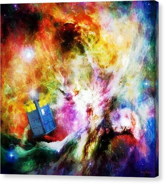 Tardis Canvas Print - Regeneration by Sandy MacGowan