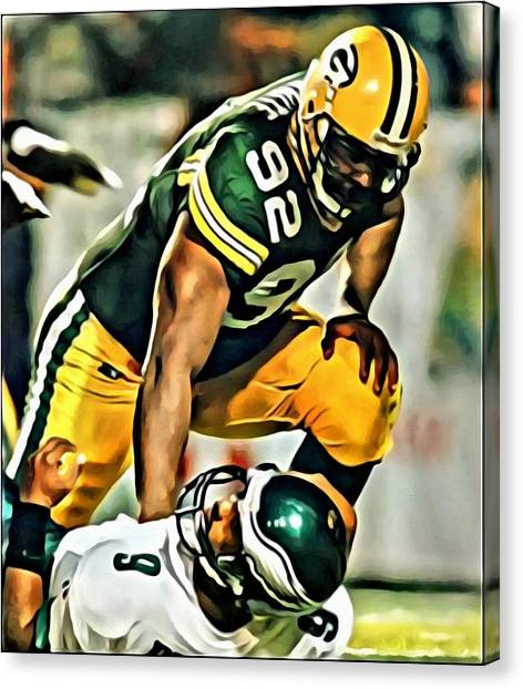 Running Backs Canvas Print - Reggie White by Florian Rodarte