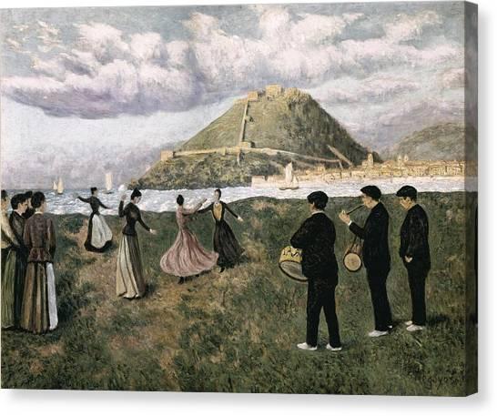 Regoyos, Dar�o De 1875-1913. Basque Canvas Print by Everett