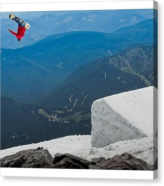 Snowboarding Canvas Print - #regram From @gfurey While Hitting The by Seth Hill
