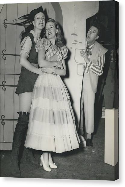 Rehearsal For ``dick Whittington� At The Palladium Canvas Print by Retro Images Archive