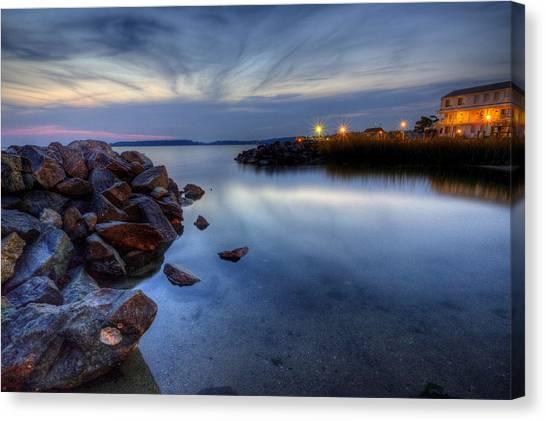 Rehoboth Bay Sunset At Dewey Beach Canvas Print