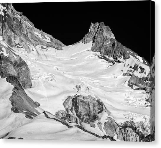 Reid Glacier And Illumination Rock Canvas Print