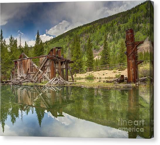 Reiling Dredge Reflection  Canvas Print