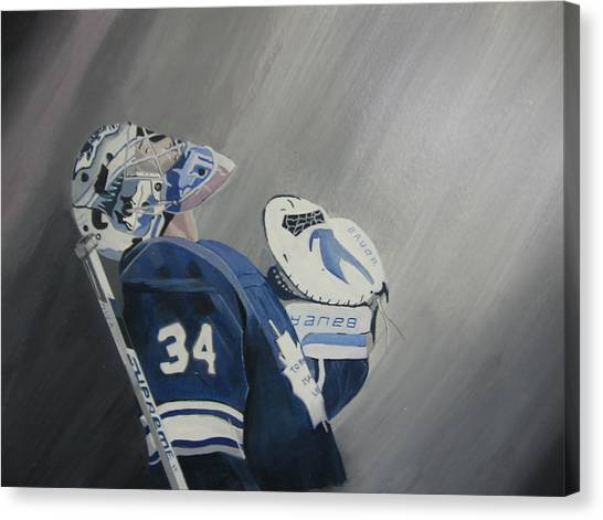 Toronto Maple Leafs Canvas Print - Reimer by Clifford Knoll