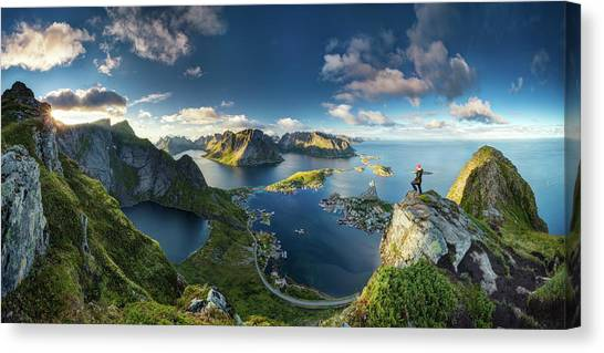 Marinas Canvas Print - Reinebringen Views by Dr. Nicholas Roemmelt